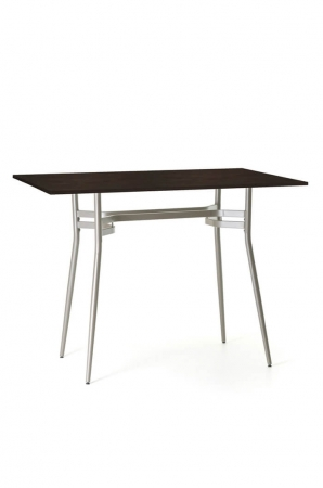 Amisco Anais Rectangular Pub Table with Wood Top