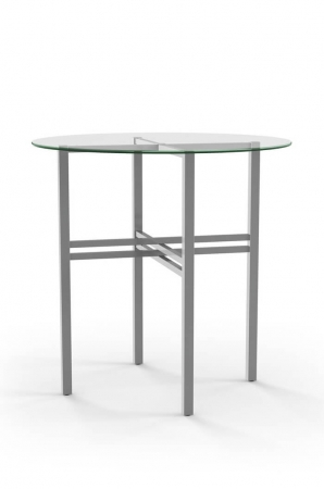 Amisco Carrefour Pub Table with Glass Top