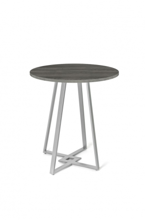 Amisco Dirk Metal Pub Table with Wood Round Top