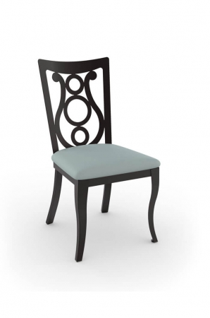 Amisco Harp Stationary Dining Chair with Cabriole Legs