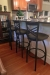 "Holland's 820 Catalina Swivel Extra Tall 36"" Inch Stools with Back in Black and Brown - Traditional Kitchen"