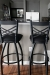 Holland's Extra Tall Black Swivel Barstools with Back, Featured in Customer's Modern Black and White Kitchen