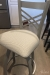 Holland's Catalina Swivel Counter Stool in Anodized Nickel metal finish and Habit Aspen seat cushion