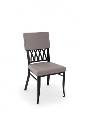 Amisco Oxford Dining Chair with Upholstered Back and Seat
