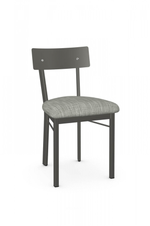 Amisco's Lauren Gray Dining Chair with Fabric Seat Cushion