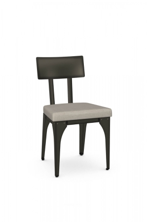 Amisco's Architect Industrial Dining Chair with Metal Frame and Seat Cushion