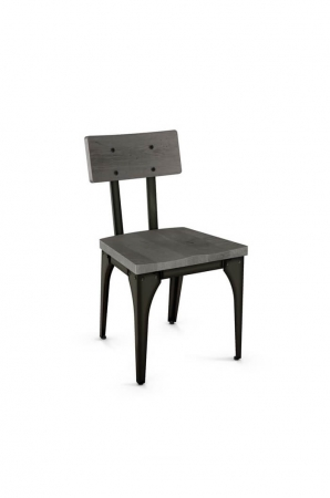 Amisco Architect Dining Chair with Metal Frame and Wood Finish