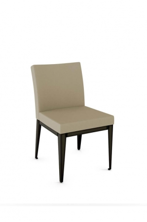 Amisco Pablo Modern Dining Chair with Square Seat and Upholstered Back