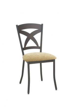 Amisco Marcus Metal Dining Chair with Cross Back Design