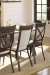 Amisco's Transitional Dining Room with Eleanor Upholstered Dining Chair