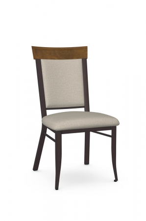 Amisco's Eleanor Traditional Dining Chair with Upholstered Back & Seat and Metal Frame