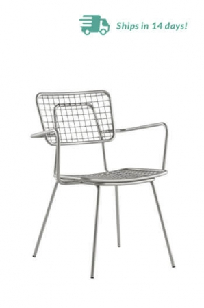 Grand Rapids Opla Outdoor Armchair in Silver Gray