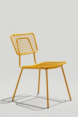 Grand Rapid's Opla Outdoor Chair in Honey Yellow Finish