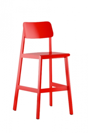 Sadie's Outdoor Bar Stool in Red
