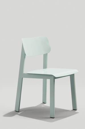 Grand Rapid's Sadie Outdoor Dining Chair in Dusty Blue Metal Finish
