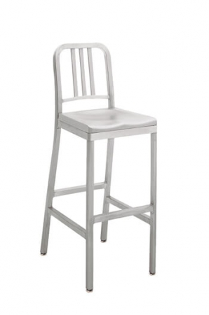 Grand Rapids Siren Outdoor Stool with Aluminum Frame and Seat
