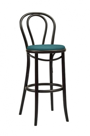 "Grand Rapids Bentwood No. 18 Barstool 30"" with Seat Cushion"