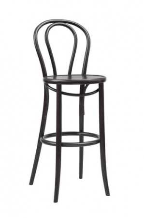 "Grand Rapids Bentwood No. 18 Barstool 30"" in Black"