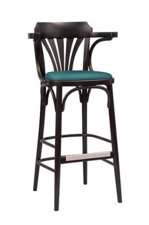 Grand Rapids Bentwood No. 25 Barstool with Seat Cushion