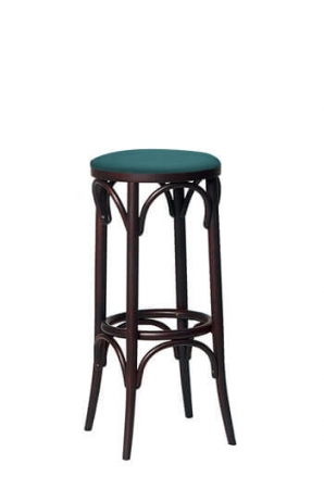Bentwood No. 73 Backless Commercial-Grade Stool with Seat Cushion