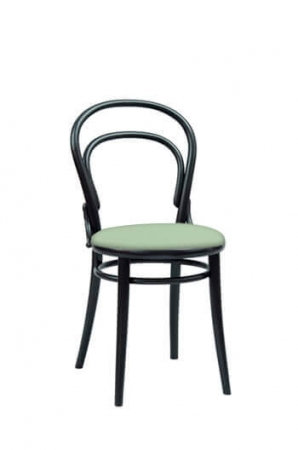 Bentwood Dining Chair with Seat Cushion in Mint Green