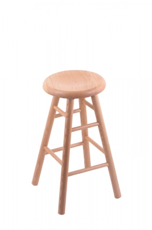 Holland's Saddle Dish Backless Wood Swivel Bar Stool with Smooth Legs in Natural Oak Wood Finish