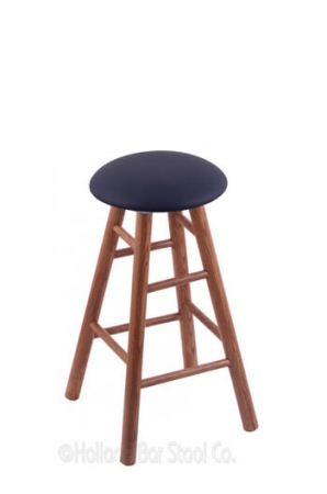 Holland Bar Stool Co. Round Cushion Domestic Hardwood Backless Swivel Stool with Smooth Legs
