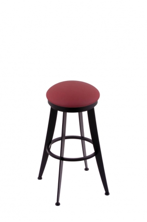 Holland Bar Stool Co. 900 Laser Backless Swivel Stool with Allante Wine