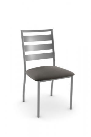 Amisco's Tori Traditional Dining Chair with Ladder Back Design in Silver