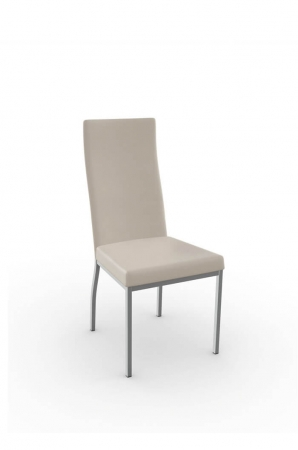 Amisco Curve Dining Chair with Tall Slightly Curved Back