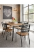 Amisco Tori Dining Chair with Wood Seat on Modern Dining Room