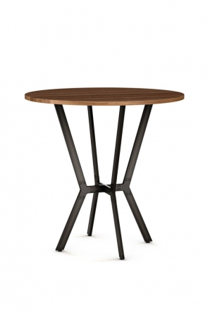 Amisco Norcross Pub Table with Wood Top