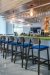 Grand Rapid's Sadie Stationary Bar Stools with Back and Seat Cushion - Shown in Restaurant Bar