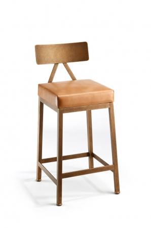Wesley Allen Macias Modern Stool with Square Base
