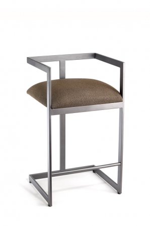 Marzan Modern Low Back Counter Stool by Wesley Allen