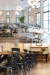 Hugh dining chairs shown in various commercial spaces.