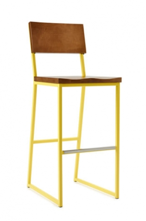 Brady Modern Barstool with Solid Beechwood Seat & Back by Grand Rapids