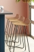 Harper Low Wood Back with Metal Base, Counter Height Stool for Modern Kitchens