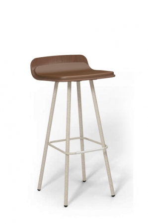 "Harper 30"" Modern Barstool with Low Back for Kitchens and Restaurants"