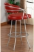 Callee Albany Swivel Stool in Red Upholstery with Arms