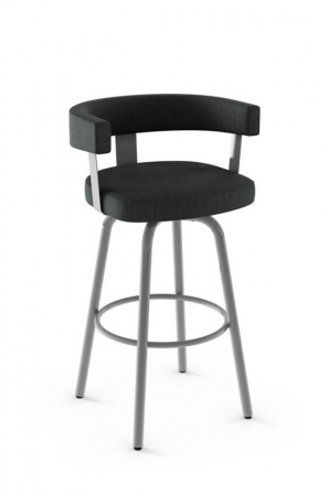 Amisco Garrett Swivel Stool with Low Back and Arms
