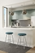 Amisco Hans Swivel Backless Stool in Modern Urban Kitchen
