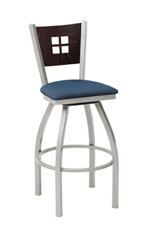 Melissa Anne Swivel Stool with Seat Cushion by Grand Rapids Chair Co.
