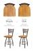 Holland's Jackie XL Comparison Between Medium Maple vs Medium Oak Wood Finish