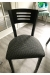 Holland's #630 Voltaire Dining Chair in Black Metal Finish and Black and White Fabric