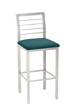 Jill Modern Stool with Square Seat Cushion and Ladder Back