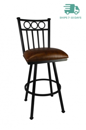 Callee Washington Swivel Brown Kitchen Stool