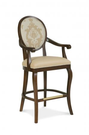 Fairfield's Oakland Wooden Bar Stool with Arms