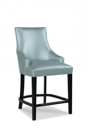 Fairfield's Ashton Wood Counter Stool with Arms and Upholstered Backrest