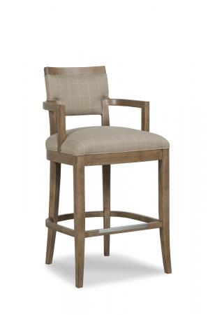 Fairfield Chair's Keller Wooden Stool with Arms and Back